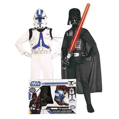 Disfraz Infantil - Pack Darth Vader + Clone Trooper Star Wars 5-7 años