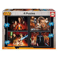 Educa Borrás - Star Wars - Puzzle 4 en 1