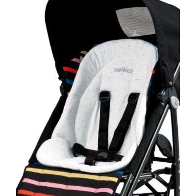 Peg p rego kit baby cushion coj n reductor acolchado para trona color blanco peg perego - Reductor silla paseo ...