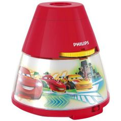 Philips Disney - Proyector LED, luz nocturna, diseño Cars, color rojo