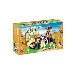 Playmobil - Caballo de Rodeo con Establo - 5516