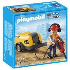 Playmobil City Action - Obrero con martillo eléctrico (5472)
