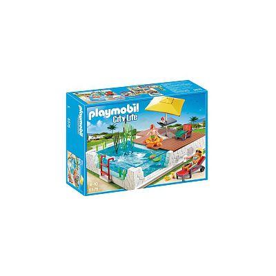 Playmobil playset piscina con terraza 5575 playmobil for Piscina playmobil