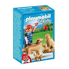 Playmobil  - Golden Retrievers con Cachorros - 5209