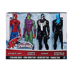 Spider-Man - Pack 4 Figuras Titan Spider-Man vs Villanos